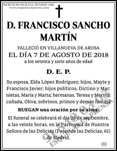 Francisco Sancho Martín